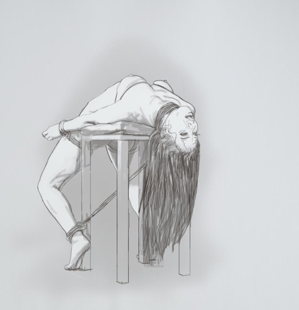 bar chair bw